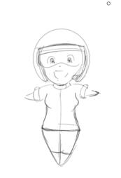 St Astro Girl Sketch