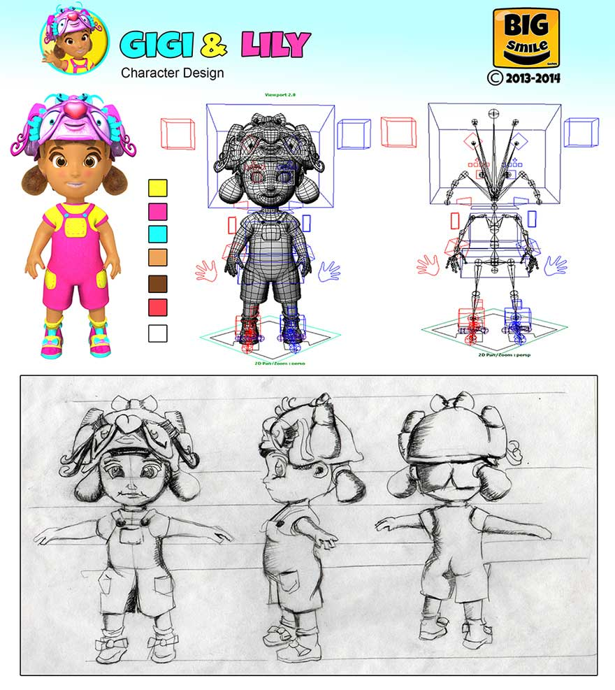 Gigiand Lily Concept Art